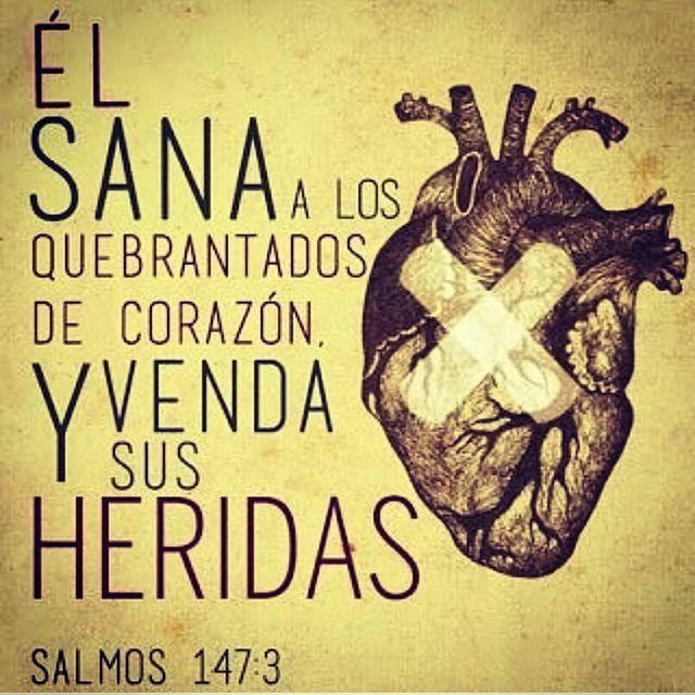 Frases de Dios El Sana a los quebrantados de corazón