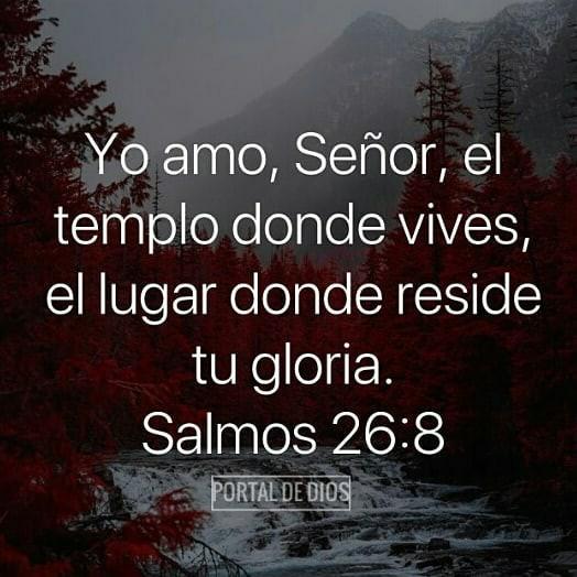 Frases de Dios Yo Amo, Señor, el Templo dónde vives