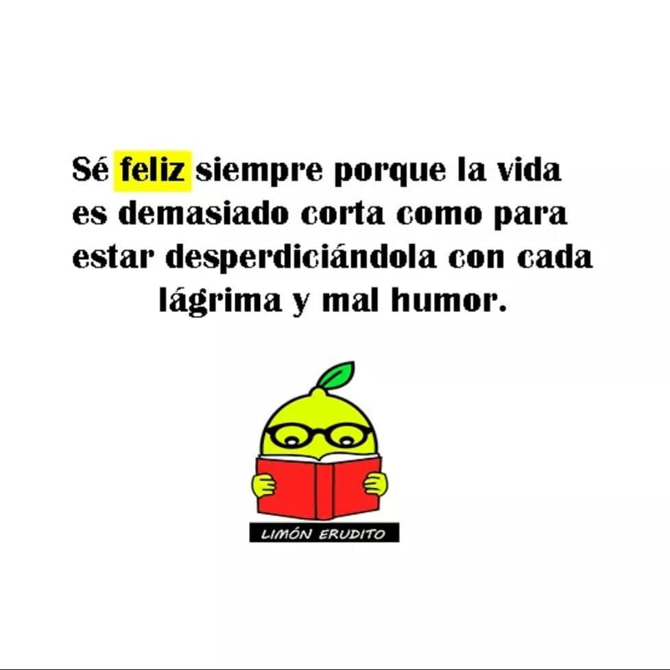 Frases de Felicidad Sé feliz siempre porque la vida es demasiado corta