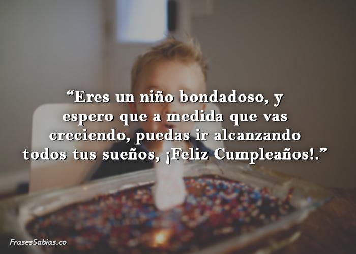 felicitación de cumpleaños para niños pequeños
