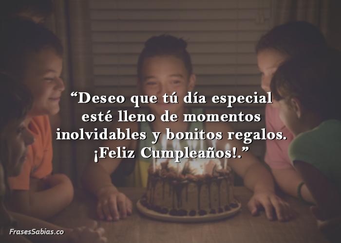 felicitaciones de cumpleaños para niños personalizadas