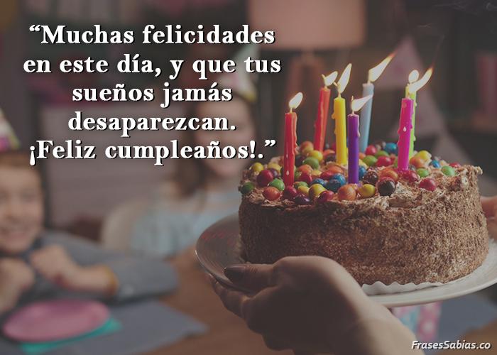 frases para dedicar en un cumpleaños y desear buenaventura