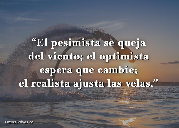 frases sobre el pesimismo y el optimista en la vida
